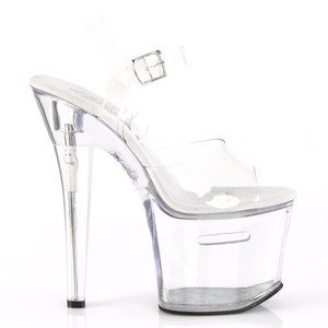 Transparent Clear Platform High Heel Tips Shoes